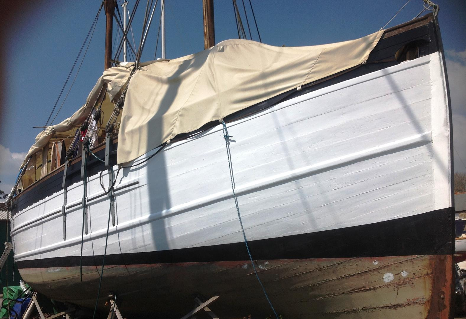 SOLD - 40ft  FIFIE SCOTTISH FISHING-BOAT converted to KETCH MOTOR-SAILER -  Lying: Cornwall