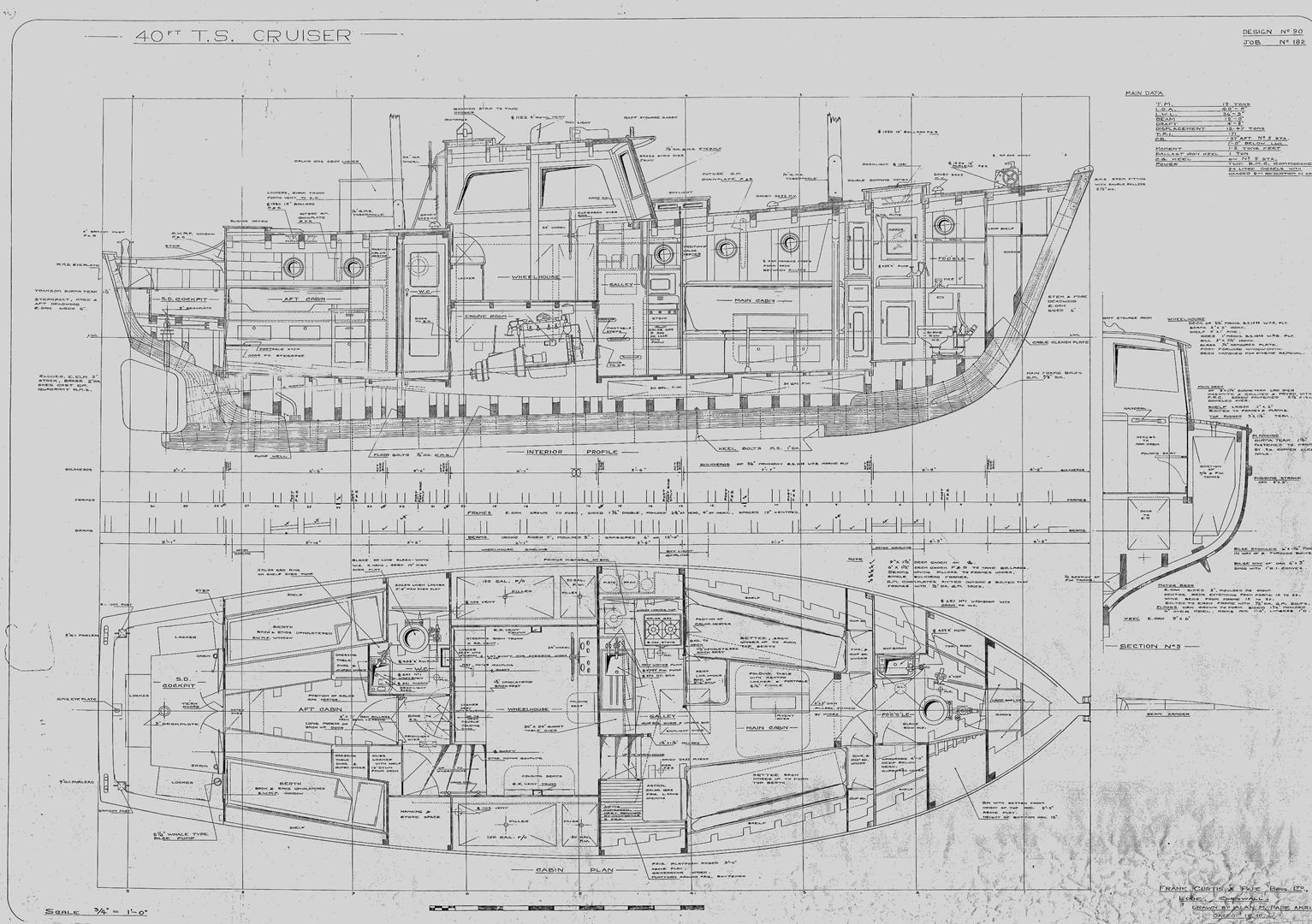 Arran Rose 40ft Curtis Pape Motor Sailer Lying Clyde Classic Battery Indicator Meter As Well Wiring Diagram